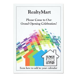 Agentes inmobiliarios de la casa de la plantilla comunicado personalizado