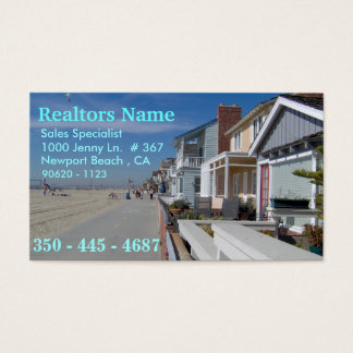 Agentes inmobiliarios, especialista de las ventas tarjeta de negocios