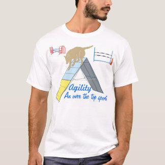Agilidad sobre la camiseta superior