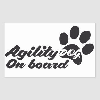 Agility Dog On Board Pegatina Rectangular