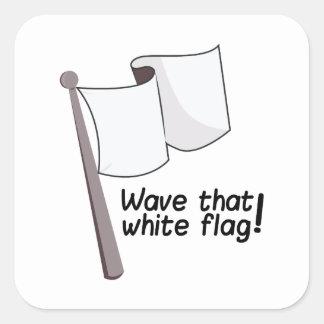 Agite esa bandera pegatina cuadrada