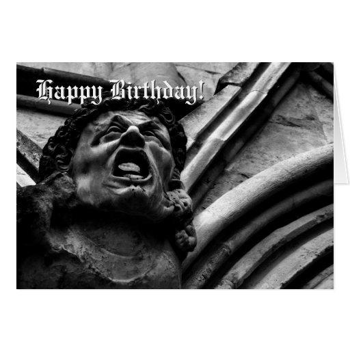 Agonía del cumpleaños gótico del Gargoyle de los I Tarjeton
