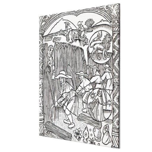 Agosto, del calendario de un pastor impresiones en lona estiradas