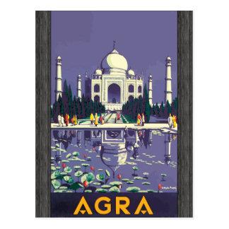 Agra, vintage postal
