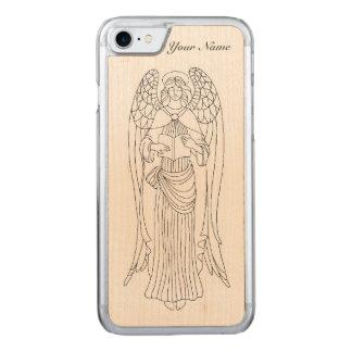 Agraciado, Eleborately adornó diseño del ángel de Funda Para iPhone 7 De Carved