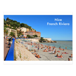 Agradable. Riviera francesa Postal