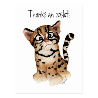 Agradece una postal del Ocelot