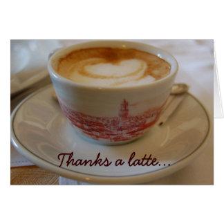 Agradece una tarjeta de felicitación del aprecio