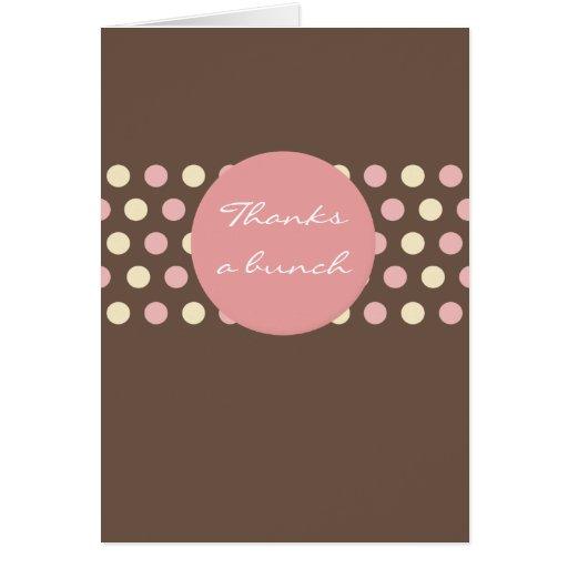 Agradece una tarjeta del de agradecimiento del man