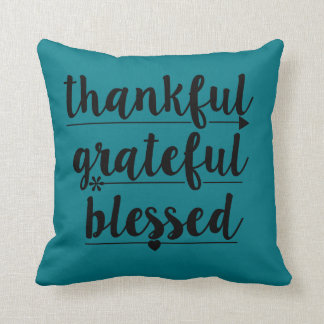agradecido agradecido bendecido cojín decorativo