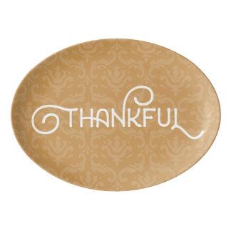 Agradecido • Disco precioso en color del otoño de Fuente De Porcelana