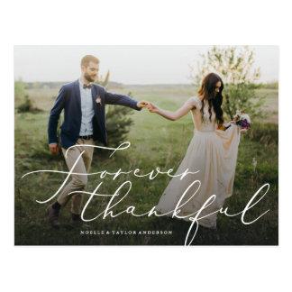 Agradecido gracias para siempre postal