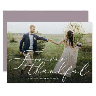 Agradecido gracias para siempre tarjeta de la foto