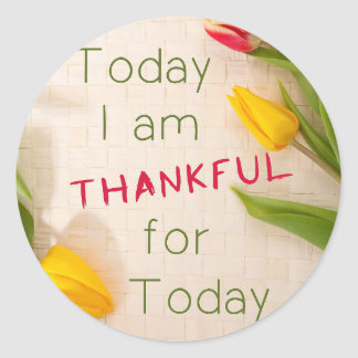 Agradecido para el pegatina del hoy