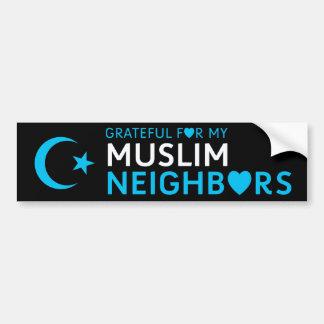 Agradecido para mi vecino musulmán pegatina para coche