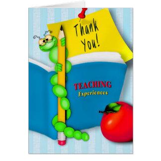 Agradeciendo al profesor del estudiante - ratón de tarjeta de felicitación