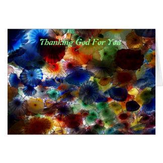 Agradecimiento de dios por usted tarjeta