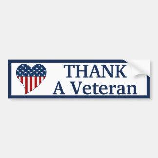 Agradezca a un veterano pegatina para coche