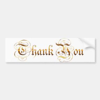 Agradezca you.text. pegatina para coche