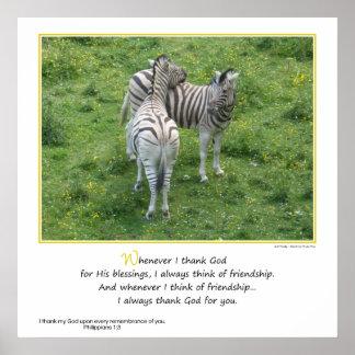 Agradezco a dios por usted… amistad póster