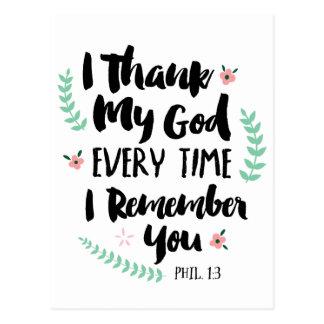 Agradezco mi postal de dios