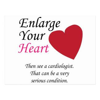 Agrande su corazón - cuidadosamente postal