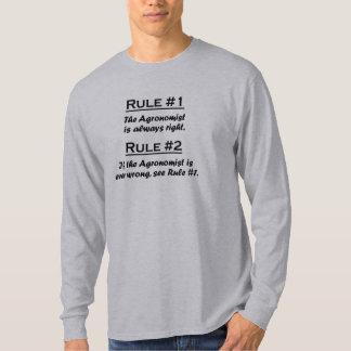 Agrónomo de la regla camiseta