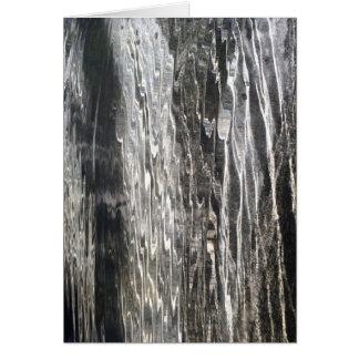 Agua - arte abstracto - tarjeta de felicitación