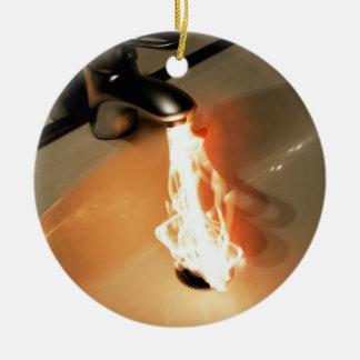 Agua caliente adorno redondo de cerámica