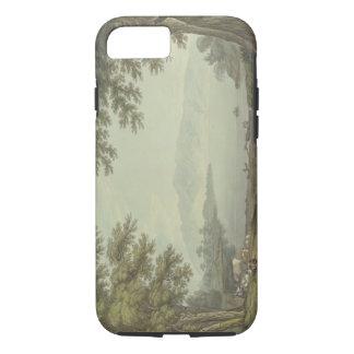Agua de Skiddaw y de Derwent (pluma y tinta con Funda iPhone 7