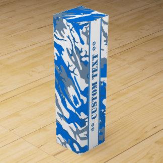 Agua helada Camo azul con el texto de encargo Caja Para Vino