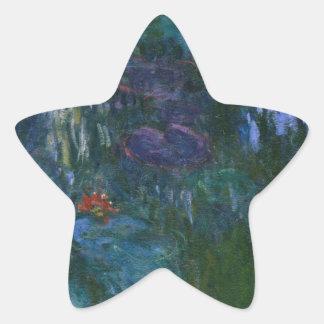 Agua Lillies Pegatina En Forma De Estrella