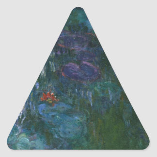 Agua Lillies Pegatina Triangular