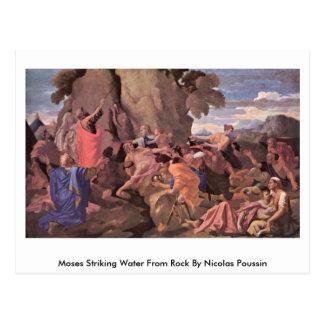 Agua llamativa de Moses de la roca de Nicolás Postal