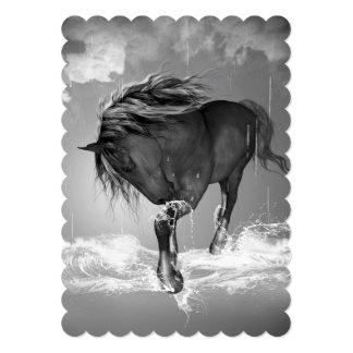 Agua potable del caballo hermoso invitación 12,7 x 17,8 cm