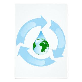 Agua que recicla invitaciones invitación 8,9 x 12,7 cm