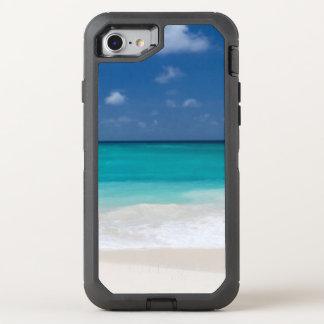 Agua tropical de la turquesa de la playa funda OtterBox defender para iPhone 7