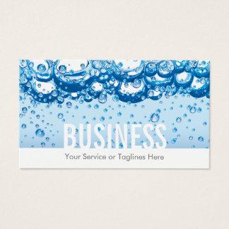 Agua y burbujas profesionales del servicio de la tarjeta de visita