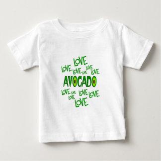 Aguacate del amor del amor camiseta de bebé