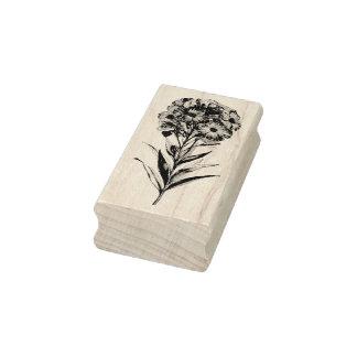 Aguafuerte de la flor de pared del vintage sello de caucho