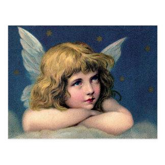 Aguafuerte hermosa del ángel postal