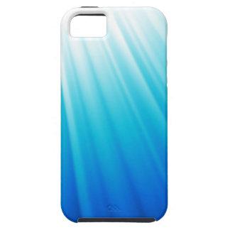 Aguamarina blanca ligera divina de Ombre azul Funda Para iPhone SE/5/5s