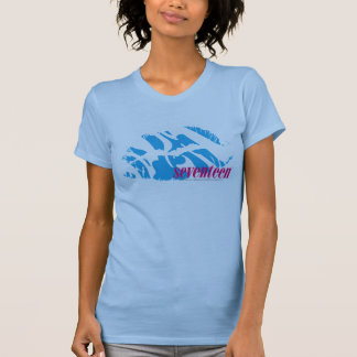 Aguamarina de la cebra camiseta