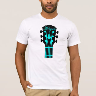 Aguamarina de la guitarra de Memphis Camiseta
