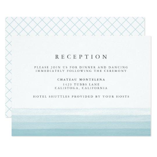 Aguamarina de la tarjeta el | de la recepción de invitación 8,9 x 12,7 cm
