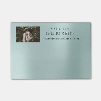 Aguamarina de Tiffany del mensaje del nombre Notas Post-it®