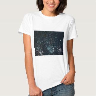 aguamarina del chapoteo del meteorito de los camiseta