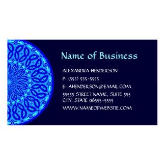 Aguamarina elegante y mandala azul del resplandor plantilla de tarjeta personal
