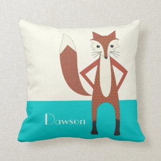 Aguamarina y almohada estilizada personalizada