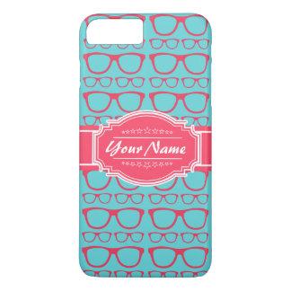 Aguamarina y vidrios rosados del friki funda iPhone 7 plus